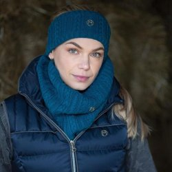 EQUETECH Cable twist knit snood