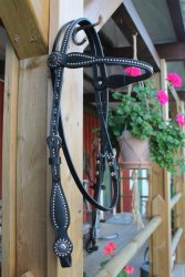 Back in Black Browband Headstall